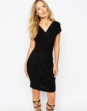 photo Dunster Bodycon Ruched Dress by Supertrash, color Black - Image 1