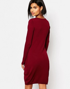 photo Dover Bodycon Lace Dress by Supertrash, color Burnt Sienna - Image 2
