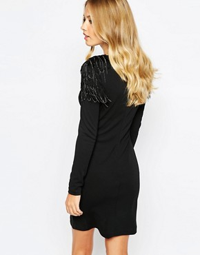 photo Dasmi Bodycon Dress with Shoulder Detail by Supertrash, color Black - Image 2