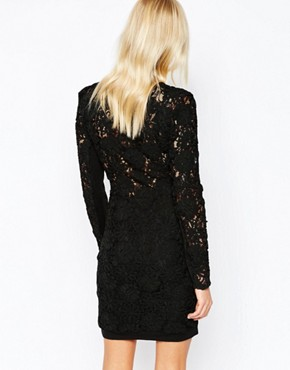 photo Deeper Lace Structured Dress by Supertrash, color Black - Image 2