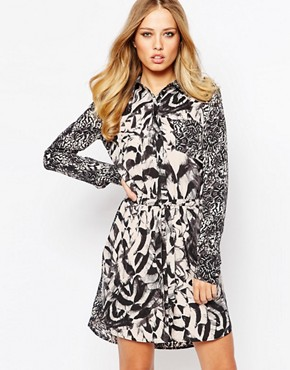 photo Dounia Dress in Bird Print by Supertrash, color Bird Print - Image 1