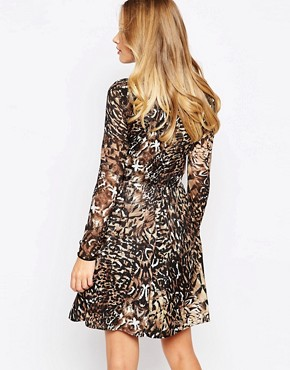 photo Danielle Dress in Leopard by Supertrash, color Leopard - Image 2