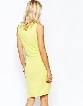 photo Jersey Dress with Wrap Detail by 2nd Day, color Yellow - Image 2