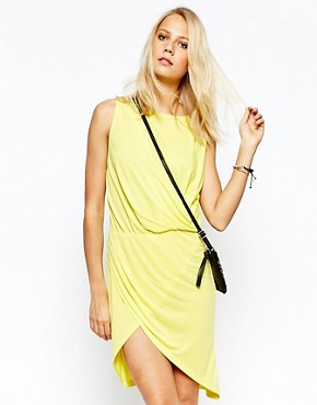 photo Jersey Dress with Wrap Detail by 2nd Day, color Yellow - Image 1