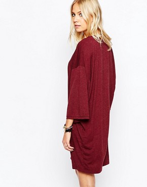 photo Ironic Dress in Aubergine by Just Female, color Aubergine - Image 2