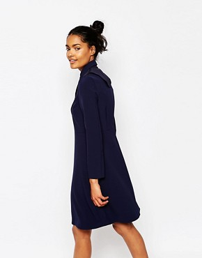 photo Anita Dress with Collar by Wood Wood, color Dark Navy - Image 2
