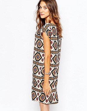 photo Printed Dress with Tassel by The Laden Showroom x Zacro, color Cream - Image 2
