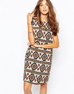photo Printed Dress with Tassel by The Laden Showroom x Zacro, color Cream - Image 1