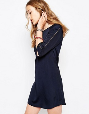 photo Silky Feel Dress in Paisley Print by Maison Scotch, color Blue - Image 1