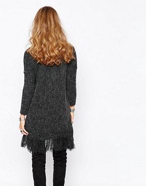 photo Knit Jumper with Tassel Hem by Stitch & Pieces, color Charcoal - Image 2