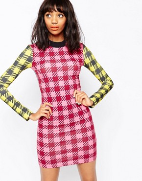 photo Gingham Mini Dress with Zip Back by House of Holland, color Multi - Image 1