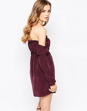 photo River Silk Dress in Plum by Stone Cold Fox, color Plum - Image 2