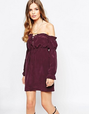 photo River Silk Dress in Plum by Stone Cold Fox, color Plum - Image 1