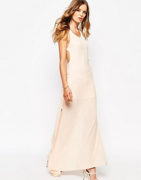 photo Maxi Dress with Open Back by Goldie, color Nude - Image 2