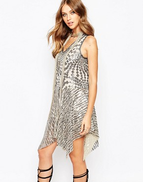 photo Celestial Dress in Silver Sequins by Anna Sui, color Silver Multi - Image 1