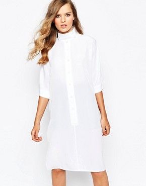 photo High Neck Batwing Dress by The Laden Showroom x Mirror Mirror, color Navy - Image 1