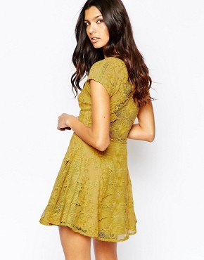 photo Sienna Mini Dress by For Love and Lemons, color Goldenrod - Image 2