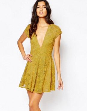 photo Sienna Mini Dress by For Love and Lemons, color Goldenrod - Image 1