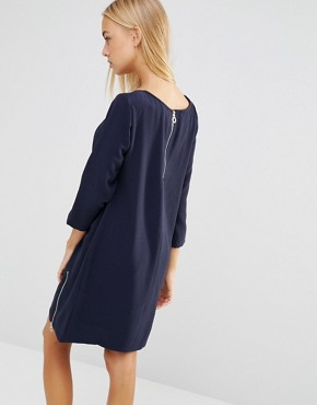 photo Shift Dress with Side Zips by Soaked in Luxury, color Royal Blue - Image 2