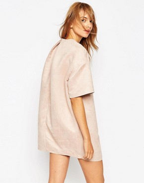 photo Shift Dress with Embellished Panel by A.V.ROBERTSON (for ASOS BLACK), color Nude - Image 2