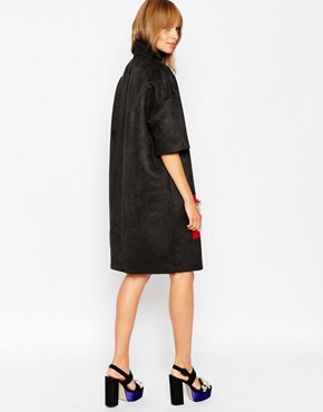 photo Funnel Neck Dress with Embellished Panel by A.V.ROBERTSON (for ASOS BLACK), color Black - Image 2