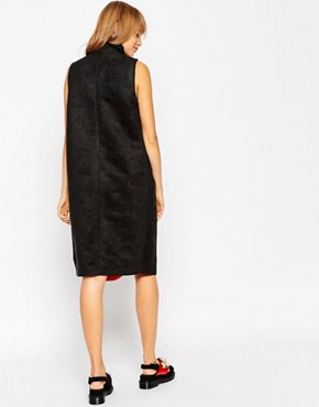 photo Funnel Neck Dress with Embellished Insert by A.V.ROBERTSON (for ASOS BLACK), color Black - Image 2