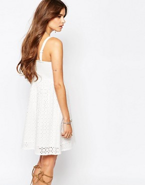 photo Strapless Broderie Sun Dress by Pimkie, color Cream - Image 2