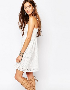 photo Strapless Broderie Sun Dress by Pimkie, color Cream - Image 1