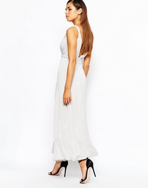 photo Grecian Maxi by Lipstick Boutique Petite, color Soft Grey - Image 2