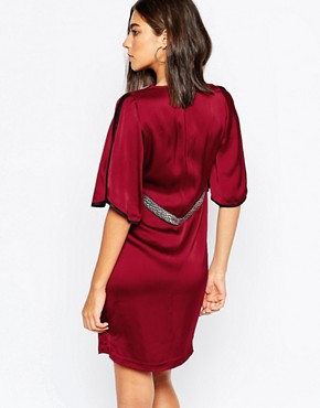photo Kimono Dress by Sisley, color Berry - Image 2