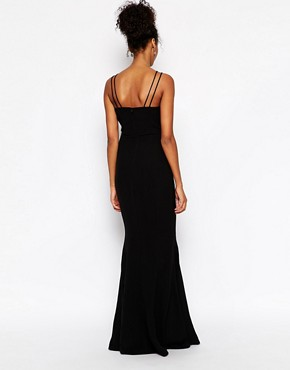 photo Jade Cage Strap Maxi Dress by Jarlo Tall, color Black - Image 2