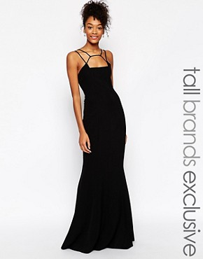 photo Jade Cage Strap Maxi Dress by Jarlo Tall, color Black - Image 1