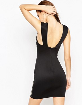 photo Armour Sweetheart Mini Bodycon Dress by ASOS NIGHT, color Black - Image 2