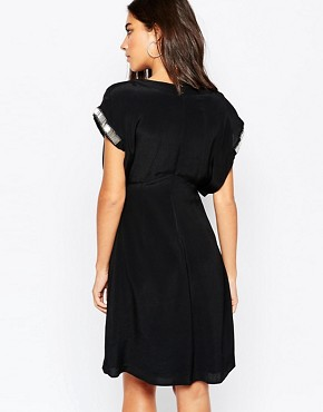 photo Kimono Sleeve Dress with Beading by Sisley, color Black - Image 2