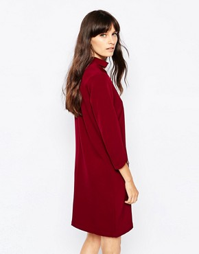 photo Cut Out Collar Dress by Paisie, color Berry - Image 2