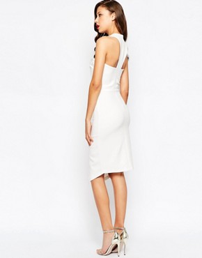 photo Lace Trim Midi Dress by ASOS TALL RED CARPET, color Ivory - Image 2