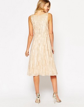 photo Sequin Shift Dress by Maya Maternity, color Cream - Image 2