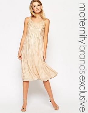 photo Sequin Shift Dress by Maya Maternity, color Cream - Image 1
