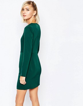 photo Shift Dress with Zip Skirt by The Laden Showroom x Meekat, color Green - Image 2