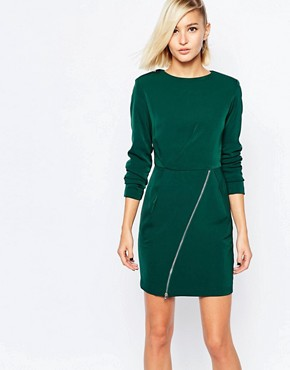 photo Shift Dress with Zip Skirt by The Laden Showroom x Meekat, color Green - Image 1