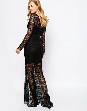 photo Jade Maxi Dress in Black by Body Frock, color Black - Image 2