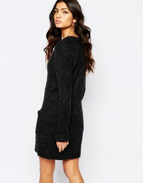 photo Chunky Jumper Dress by Noisy May Tall, color Black - Image 2