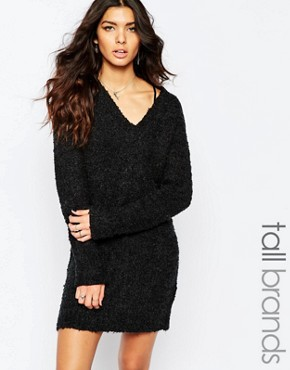 photo Chunky Jumper Dress by Noisy May Tall, color Black - Image 1