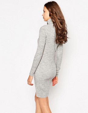photo Knitted Dress with Roll Neck by Noisy May Tall, color Grey - Image 2