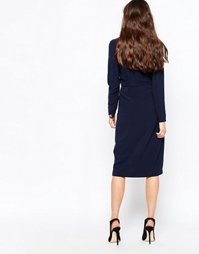 photo Eli Pencil Dress by Just Female, color Deep Navy - Image 2