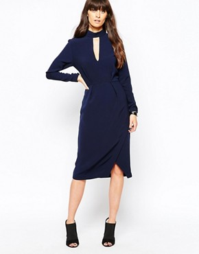 photo Eli Pencil Dress by Just Female, color Deep Navy - Image 1
