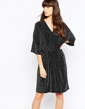 photo Lux Kimono Dress by Just Female, color Black/Silver - Image 1