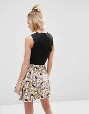 photo Mini Skater Dress in Geo Floral Print by ASOS AFRICA x Chichia, color Multi - Image 2
