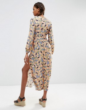 photo Long Sleeve Maxi Dress in Geo Floral by ASOS AFRICA x Chichia, color Multi - Image 2