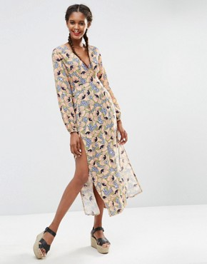 photo Long Sleeve Maxi Dress in Geo Floral by ASOS AFRICA x Chichia, color Multi - Image 1